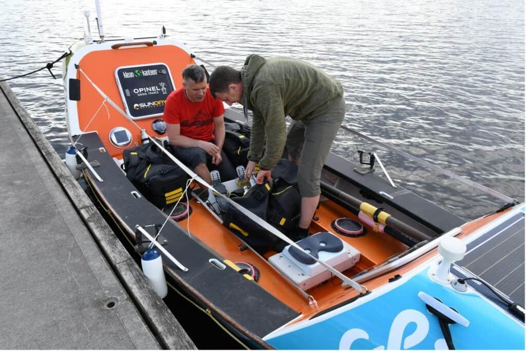 Rowing across the Atlantic